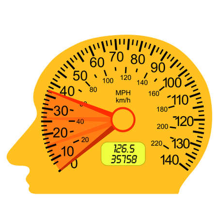 mph: car speedometer in the human brain