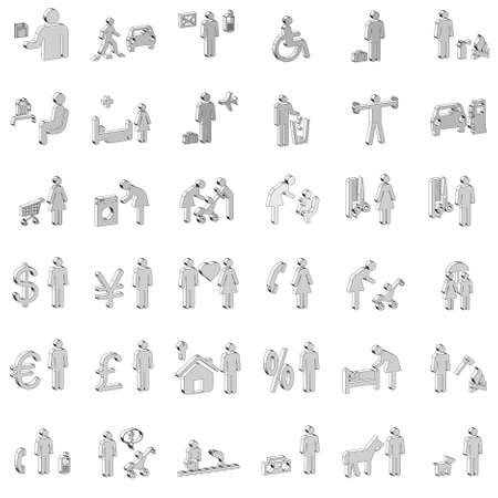 garbage man: Website and Internet 3D Icons - People
