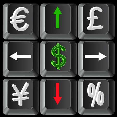 World financial crisis Vector
