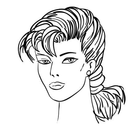 Hand-drawn fashion model. illustration. Woman Stock Vector - 10196264