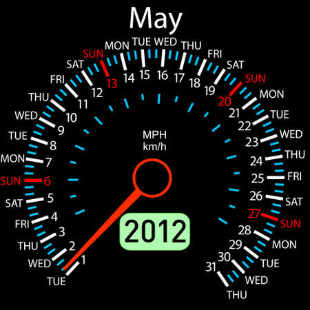 iquest: 2012 year &iuml,&iquest,&frac12,alendar speedometer car