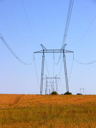 electrical grid near field Stock Photo - 10307648
