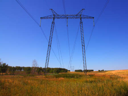electrical grid near field Stock Photo - 10307651