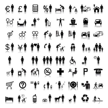 simbolo uomo donna: Sito Web e Internet icone - persone Vettoriali