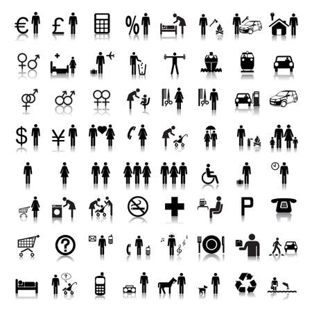 a symbol: Website and Internet Icons -- People Illustration