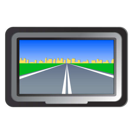 global navigation system: GPS navigation - illustration