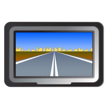 gps navigator: GPS navigation - illustration