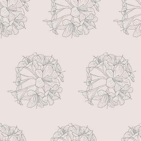 seamless wallpaper bouquet of lilies Stock Vector - 10574536