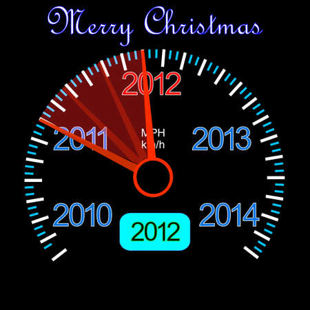 2012 counter on the dashboard for new year Stock Vector - 10574530