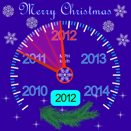 2012 counter on the dashboard for new year Stock Vector - 10762756