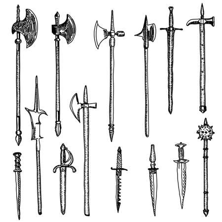 Weapon collection, medieval weapons Stock Vector - 10850949