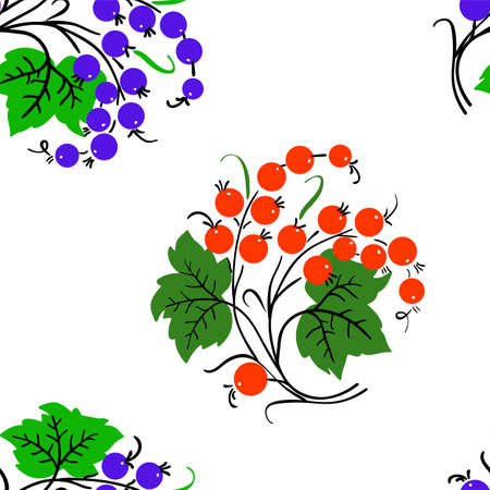 Seamless background with currant . Could be used as seamless wallpaper, textile, wrapping paper or background Vector