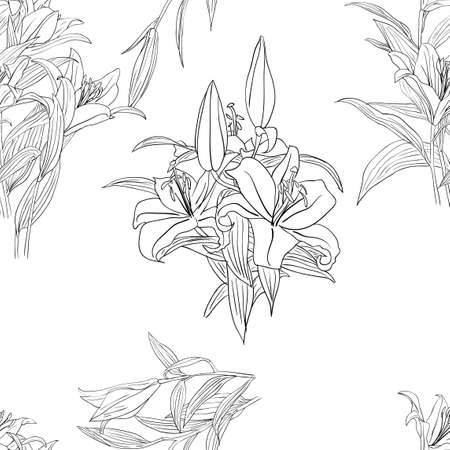 Seamless background with flower . Could be used as seamless wallpaper, textile, wrapping paper or background Vector