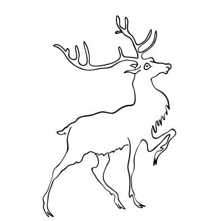 drawings image: drawing of deer