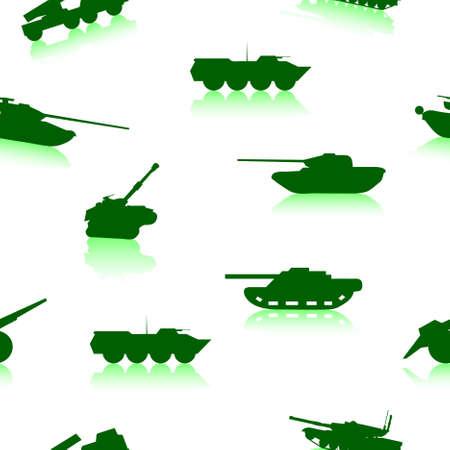 Tank Weapon seamless wallpaper Vector