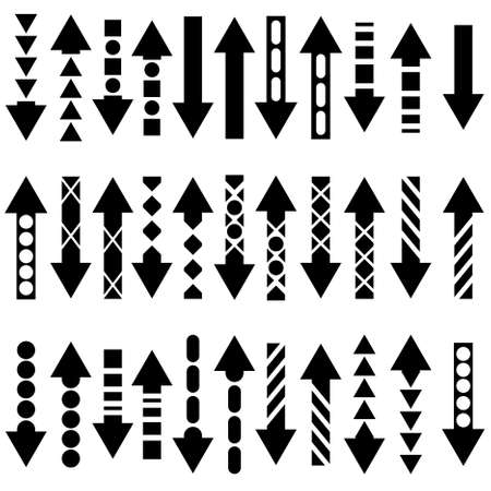 A set of useful black arrows. Stock Vector - 10850919
