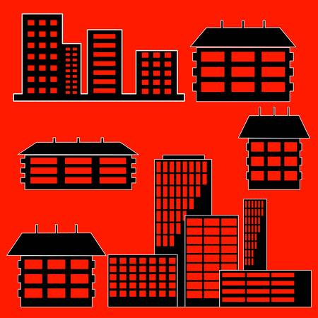 different kind of houses and buildings Stock Vector - 10850917