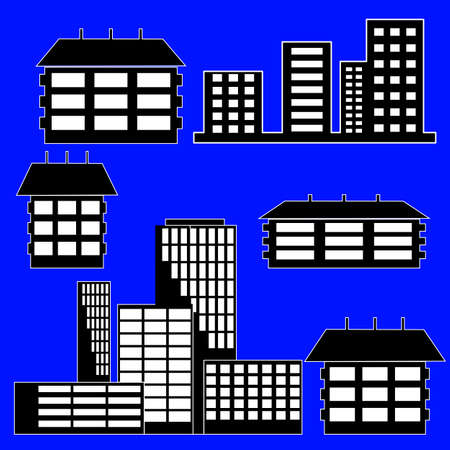 different kind of houses and buildings  Stock Vector - 10850918