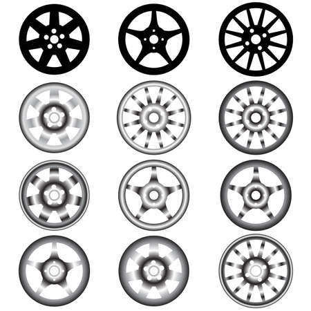 car wheel: automotive wheel with alloy wheels