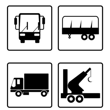 collection of transport icons Vector