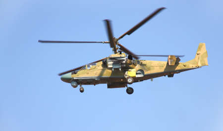 air demonstration: Russian helicopter Ka-52 (alligator) Editorial