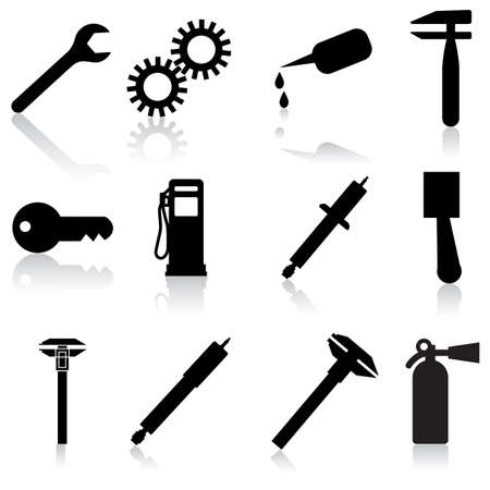 Auto Car Repair Service Icon Symbol Stock Vector - 11010698