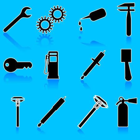 Auto Car Repair Service Icon Symbol Ilustração