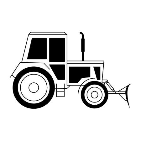 agriculture machinery: Illustration with a tractor