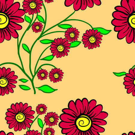 Elegance Seamless color pattern on background. Vector