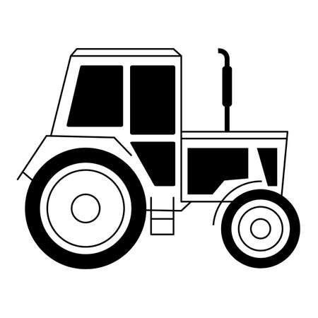 Illustration with a tractor Vector