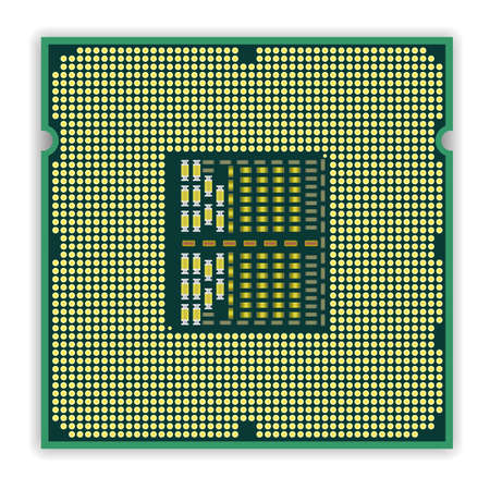 processors: The modern multi core   processor CPU computer Illustration