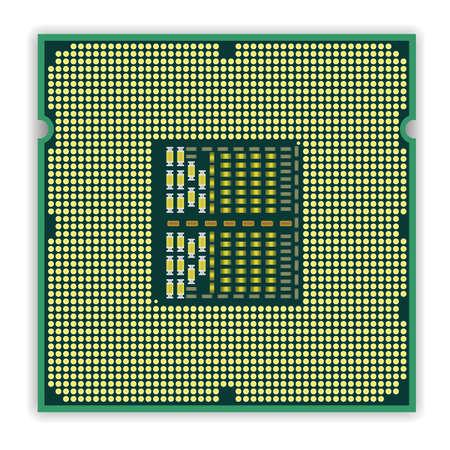 microcontroller: The modern multi core   processor CPU computer Illustration