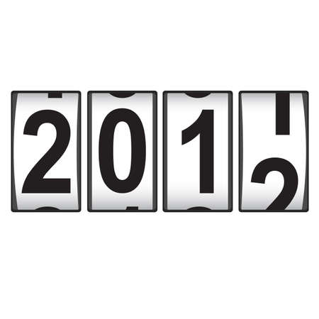 2012 New Year counter. Illustration