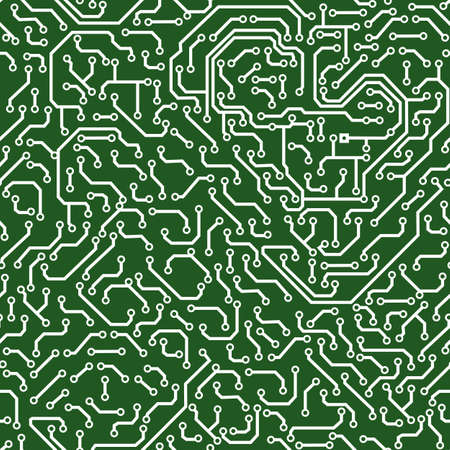 Seamless pattern. Computer circuit board. Vector