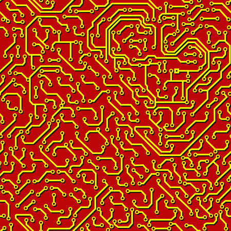 Seamless pattern. Computer circuit board. Vector