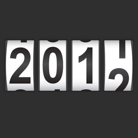 2012 New Year counter. Vector