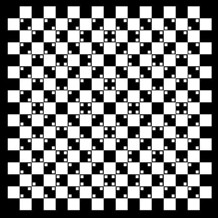 Illustration of volume in black and white squares Vector