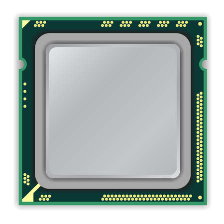 The modern multi core processor CPU computer