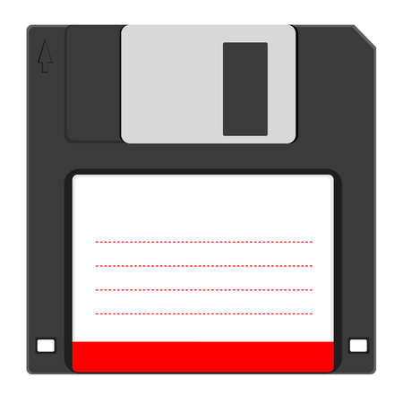 salvaging:  Old floppy disc for computer data storage