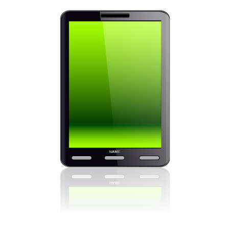 Vertical Tablet computer isolated on the white background Vector