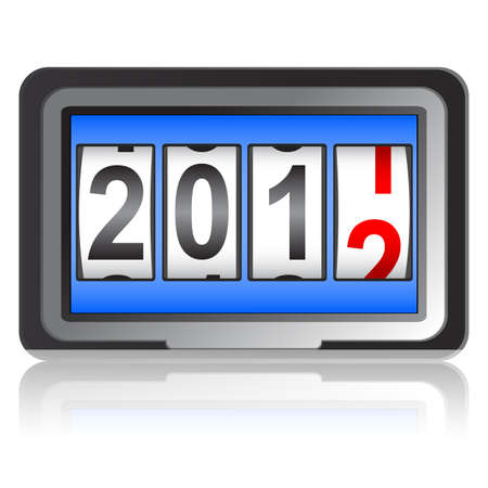 2012 New Year counter, vector. Vector