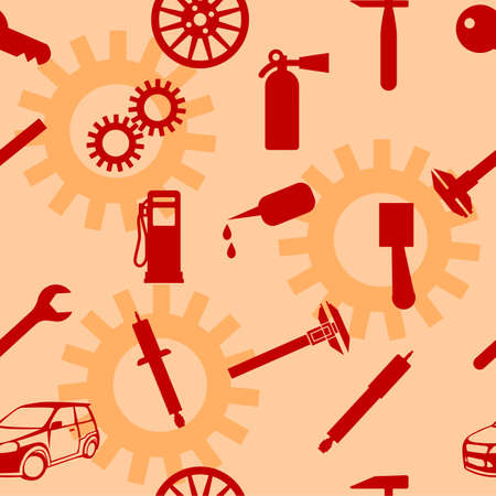 maschinenteile: Auto Auto Repair Service Icon Symbol. Nahtlose Tapete. Illustration