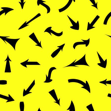 upward movements: Vector set of red arrows, seamless wallpaper.