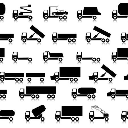 Cars, vehicles. Car body. Seamless wallpaper. Vector