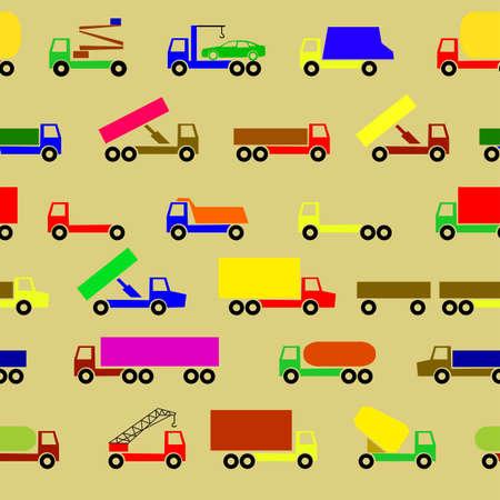 Cars, vehicles. Car body. Seamless wallpaper. Stock Vector - 11299011