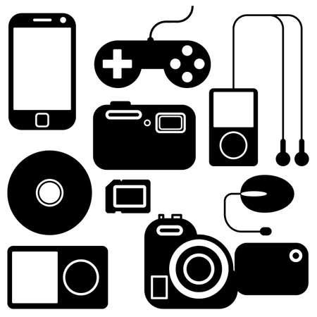 Zestaw ikon elektronicznych gadżetów