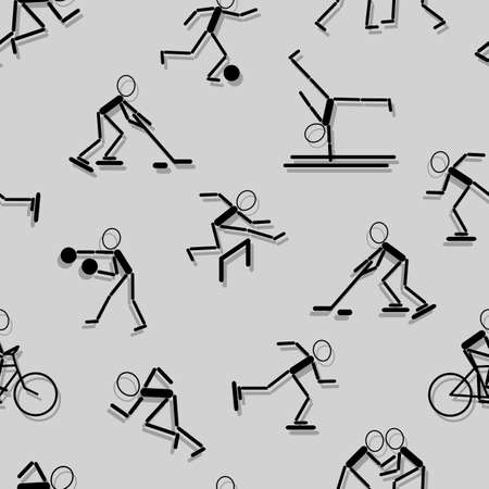 sport icons. Seamless wallpaper. Vector