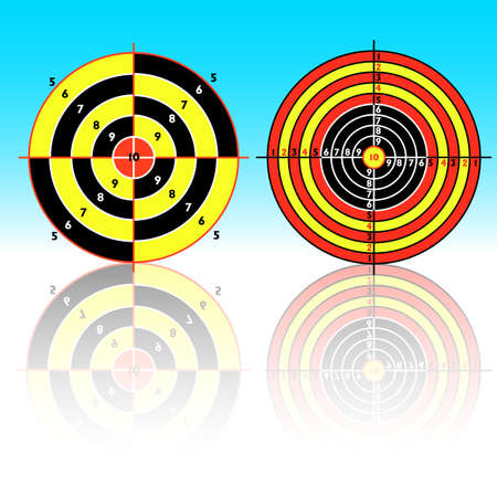 Set targets for practical pistol shooting, exercise. Vector illustration Vector