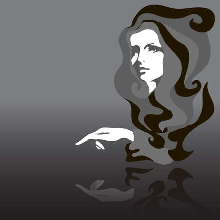 Fashion model. Vector illustration. Woman Stock Vector - 11500513