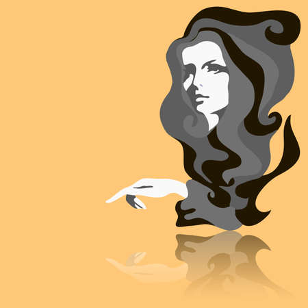 Modelo de moda. Ilustración del vector. Mujer